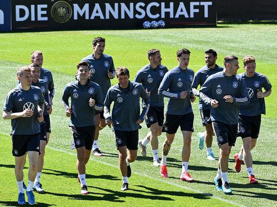 Germany squad in training ahead of the Euros