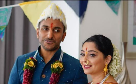 Sonalee Kulkarni with her husband Kunal