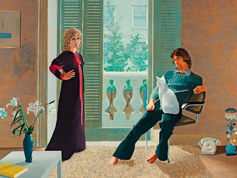 David Hockney, Mr and Mrs Clark and Percy