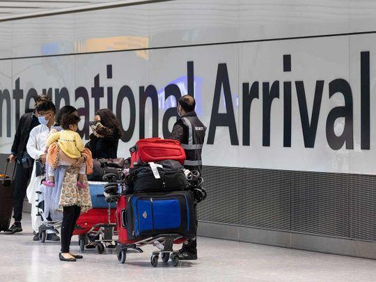 Heathrow airport UK covid arrival
