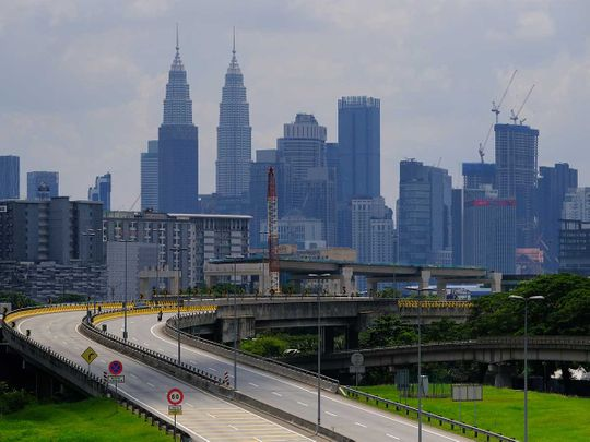 Malaysia covid deserted skyline