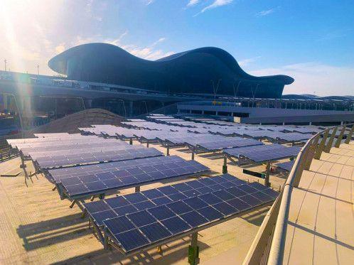 Midfield Terminal Solar Car Shade Project 1-1622542943858