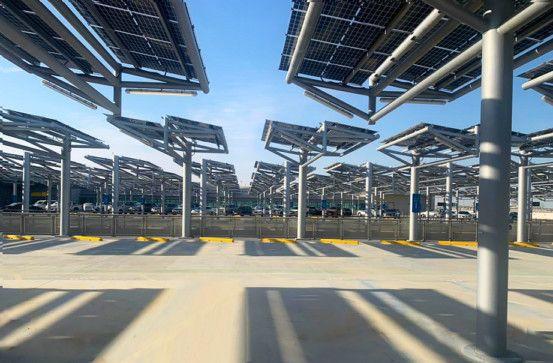 Midfield Terminal Solar Car Shade Project 2-1622542945484