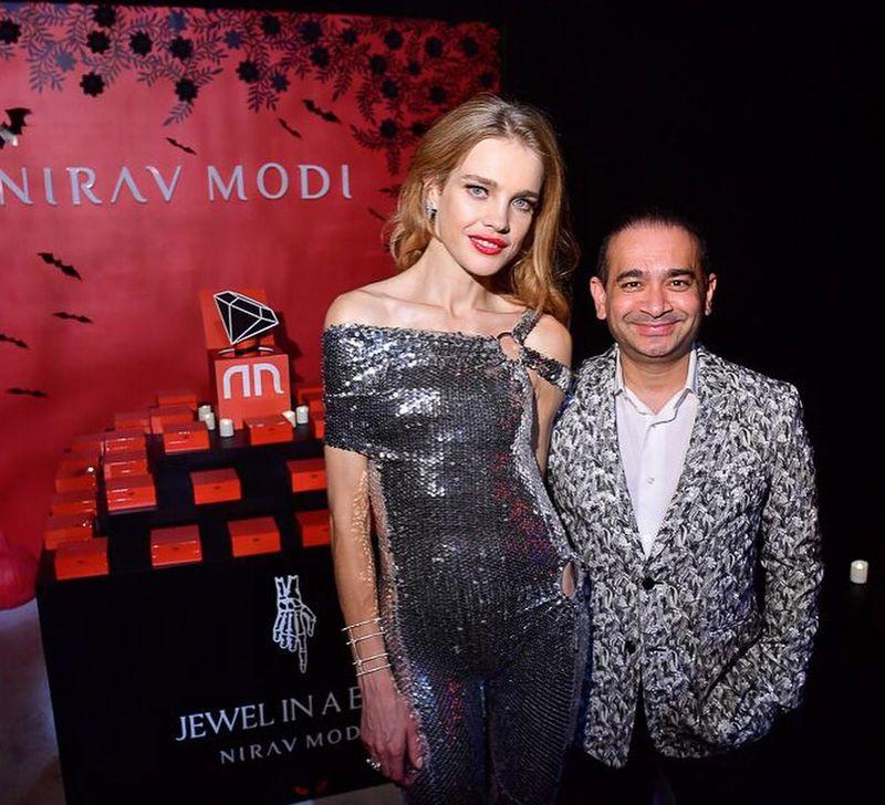 Nirav Modi and with model Natalia Vodianova