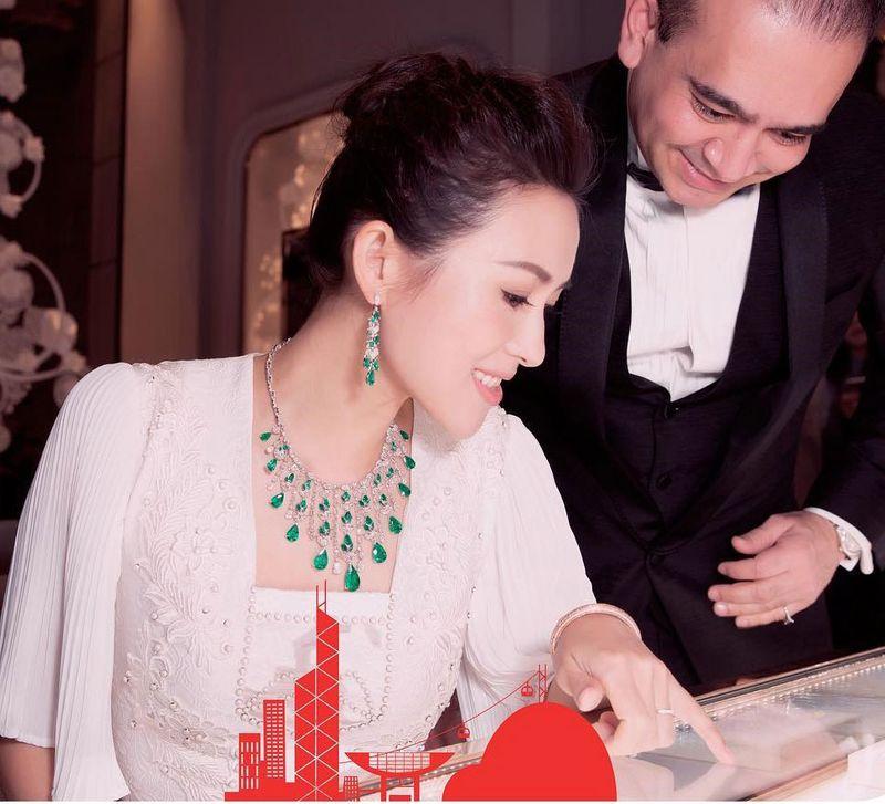 Nirav Modi with actress ZhangZiyi