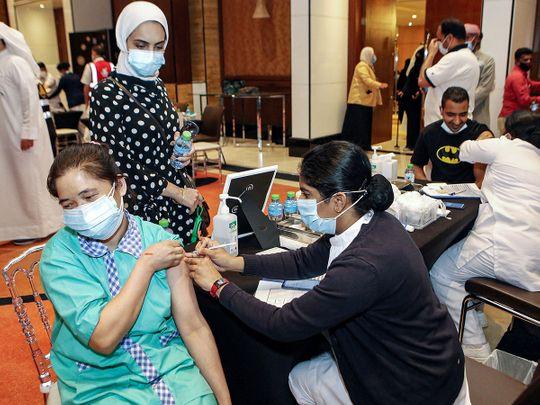 Stock Kuwait vaccine covid