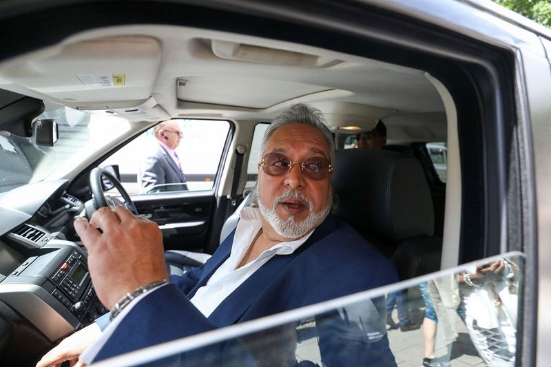 Vijay Mallya, founder and chairman of Kingfisher Airlines Ltd., leaves Westminster Magistrates' Court in London, U.K., on Tuesday, June 13, 2017. Mallya, arrested in London in April, returned to the court as authorities attempt toextradite him to face fraud accusations in India.