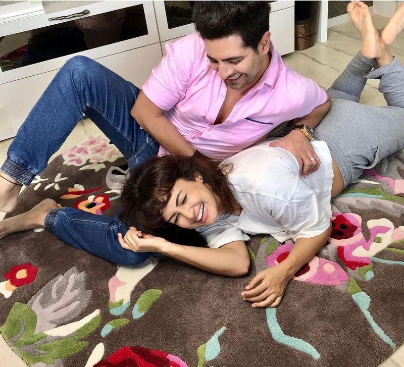 Nisha Rawal and Karan Mehra