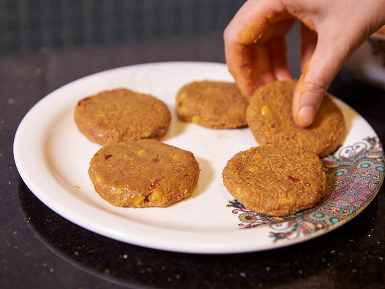 Repeat the same process to shape rest of the kababs