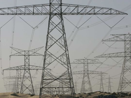 Stock DEWA power lines