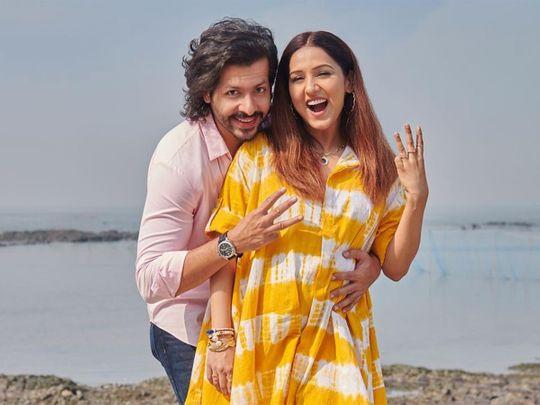 Neeti Mohan with her husband