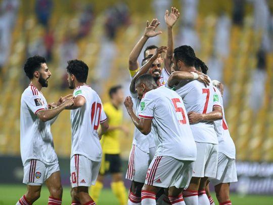 The UAE thrashed Malaysia 4-0