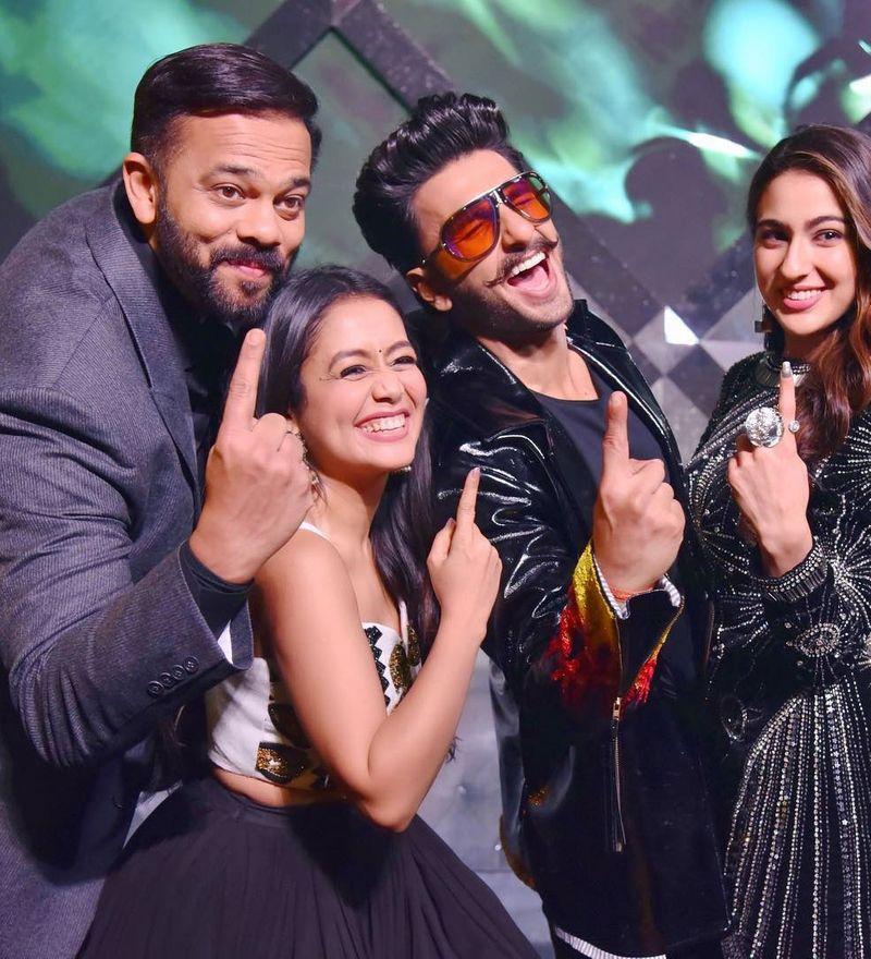 Neha Kakkar, Sara Ali Khan, Rohit Shetty and Ranveer Singh