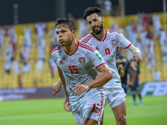 Fabio Lima was among the goalscorers for the UAE against Thailnad