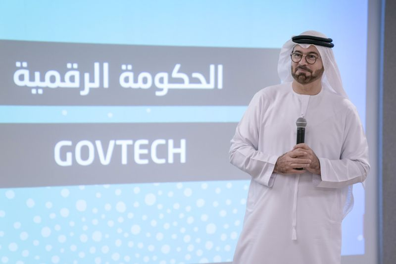 H.E. Mohammad Al Gergawi speaking to participants-1623073216288