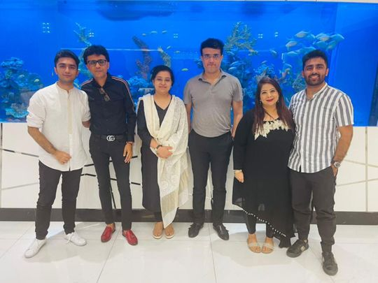 Sourav Ganjuly with Anis Sajan and family