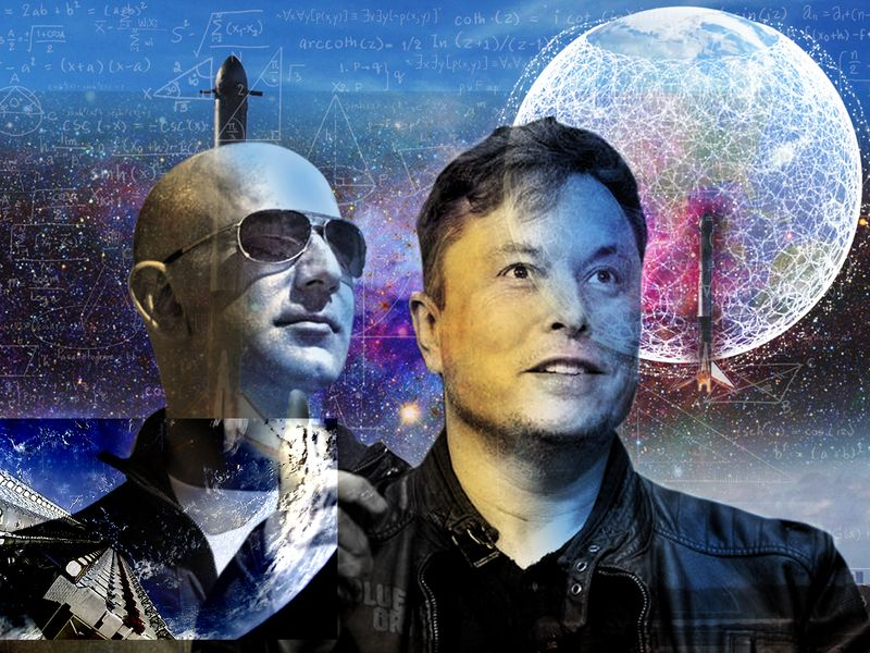 Elon Musk and Jeff Bezos