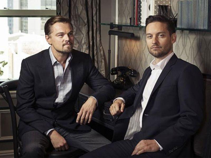 Leonardo DiCaprio, left, and Tobey McGuire