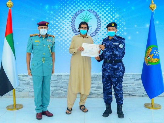 Sharjah Police honour man-1623135448888