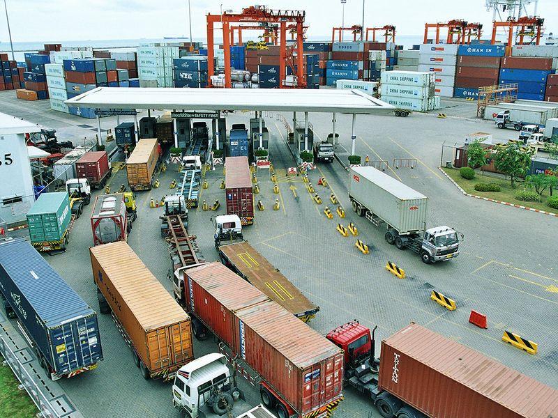 Stock DP world Chabang terminal