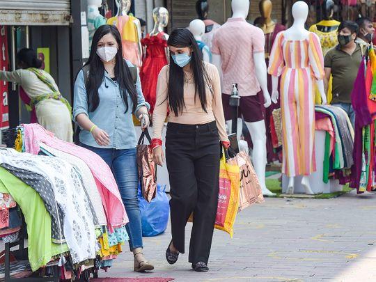 Stock India economy shopping people