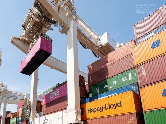 Stock Jebel ali port DP world