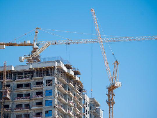 Stock construction crane Dubai
