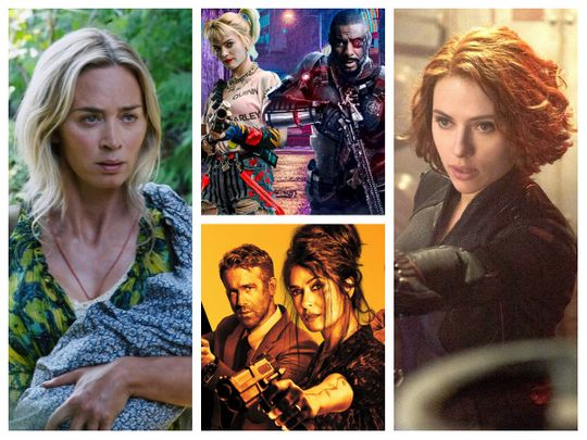 A Quiet Place II, The Suicide Squad 2, Black Widow and The Hitman's Wife's Bodyguard