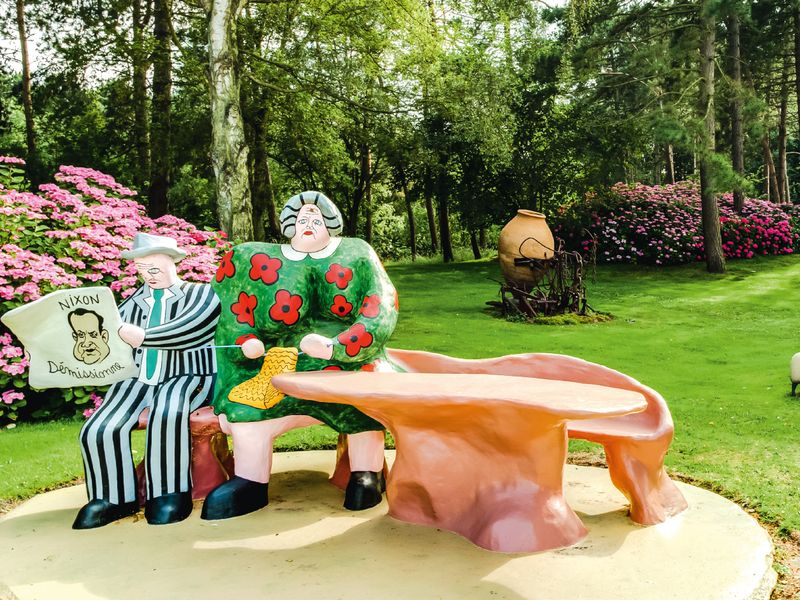 A piece by Niki de Saint Phalle in the garden of her collector friend Roger Nellens