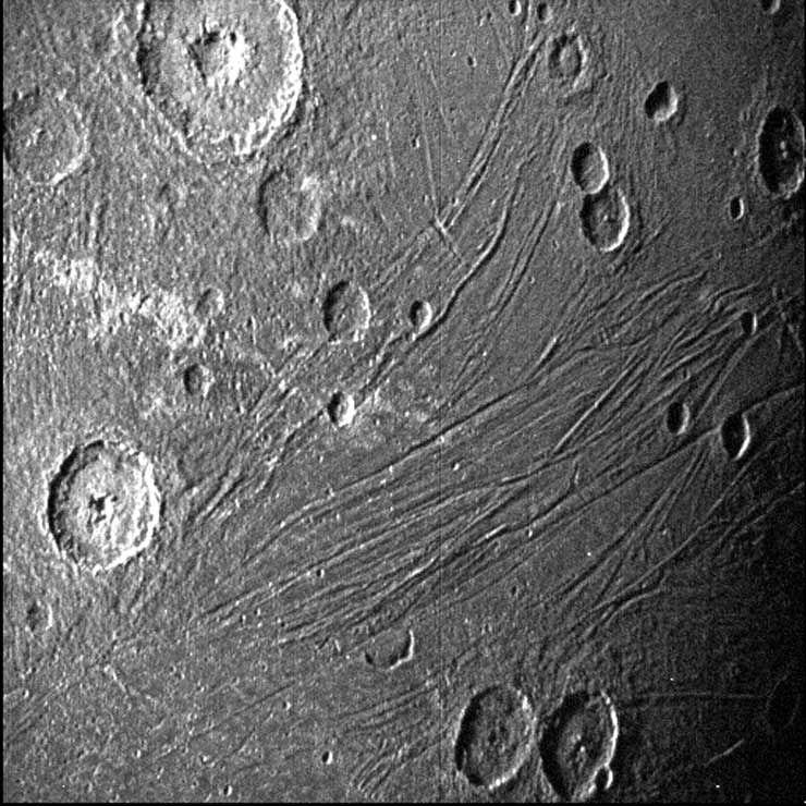 Jovian moon Ganymede