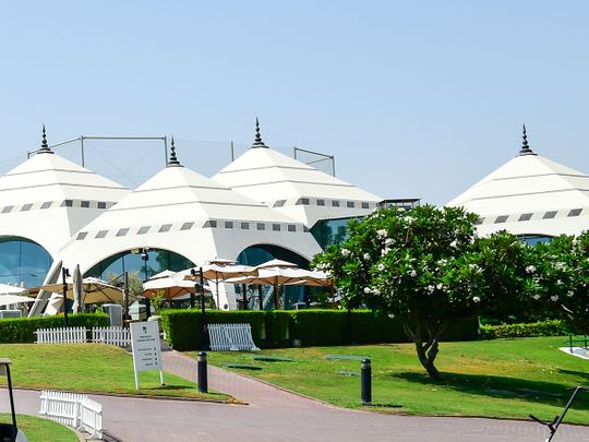 The famous Emirates Golf Club clubhouse