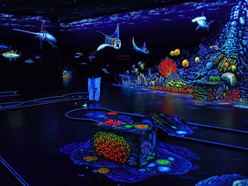 3D Blacklight Minigolf Dubai