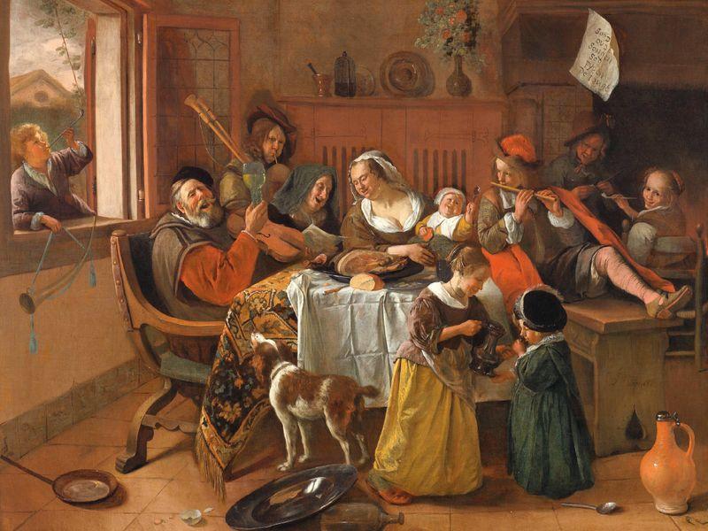 Jan Steen, The Happy Family,