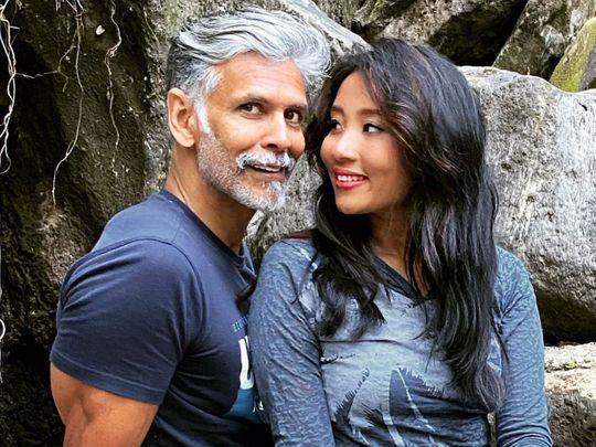 Milind Usha Soman and Ankita Konwar