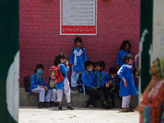 Pakistan students school