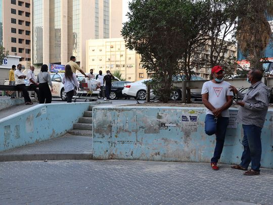 Stock Kuwait people expats skyline