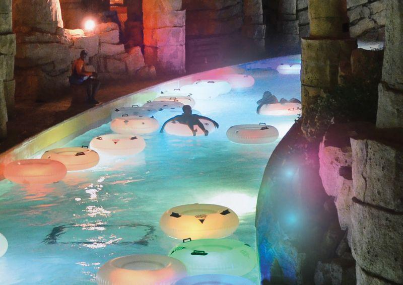 Yas Waterworld neon nights
