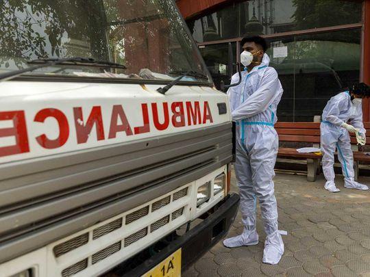 india health workers ambulance covid