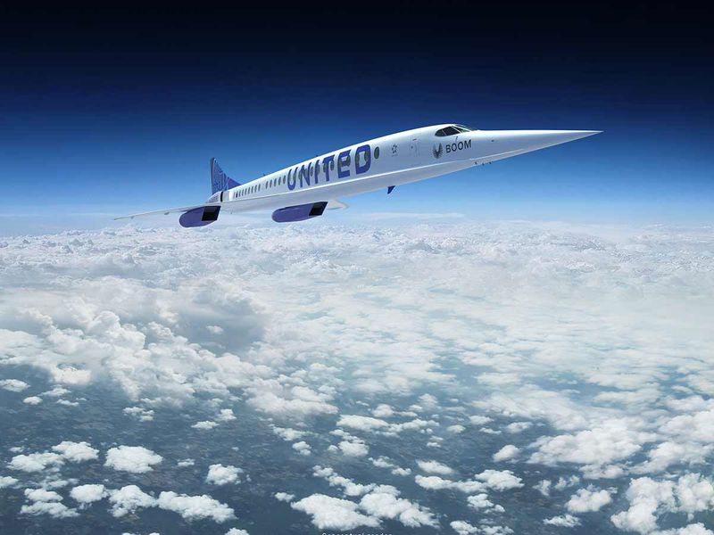 A rendering provided by Boom Supersonic shows the proposed plane.