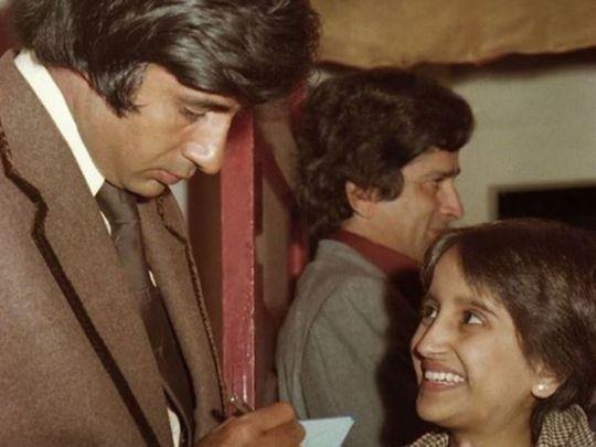 Amitabh Bachchan at the 1979 'Kala Patthar' premiere
