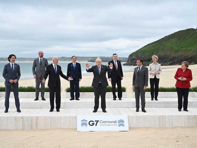 G7 meeting Trudeau Johnson Biden