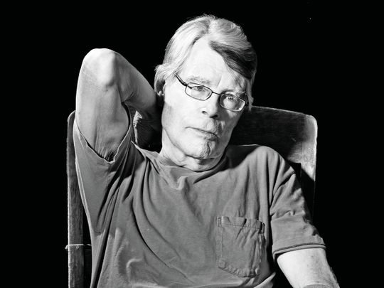 The author Stephen King in Bridgton, Maine, on Friday, May 28, 2021