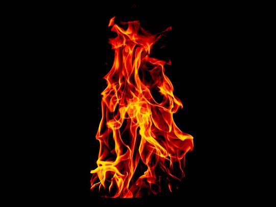 Woman set ablaze