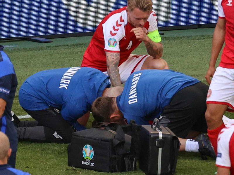 Euro 2020: Denmark's Christian Eriksen 'stabilised', moved to hospital after collapse during game