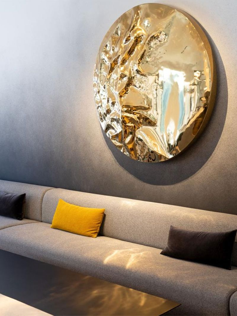 Dune: Wall Art Light by Vera Dieckmann, is the champion piece that adorns the main wall of The Grey.
