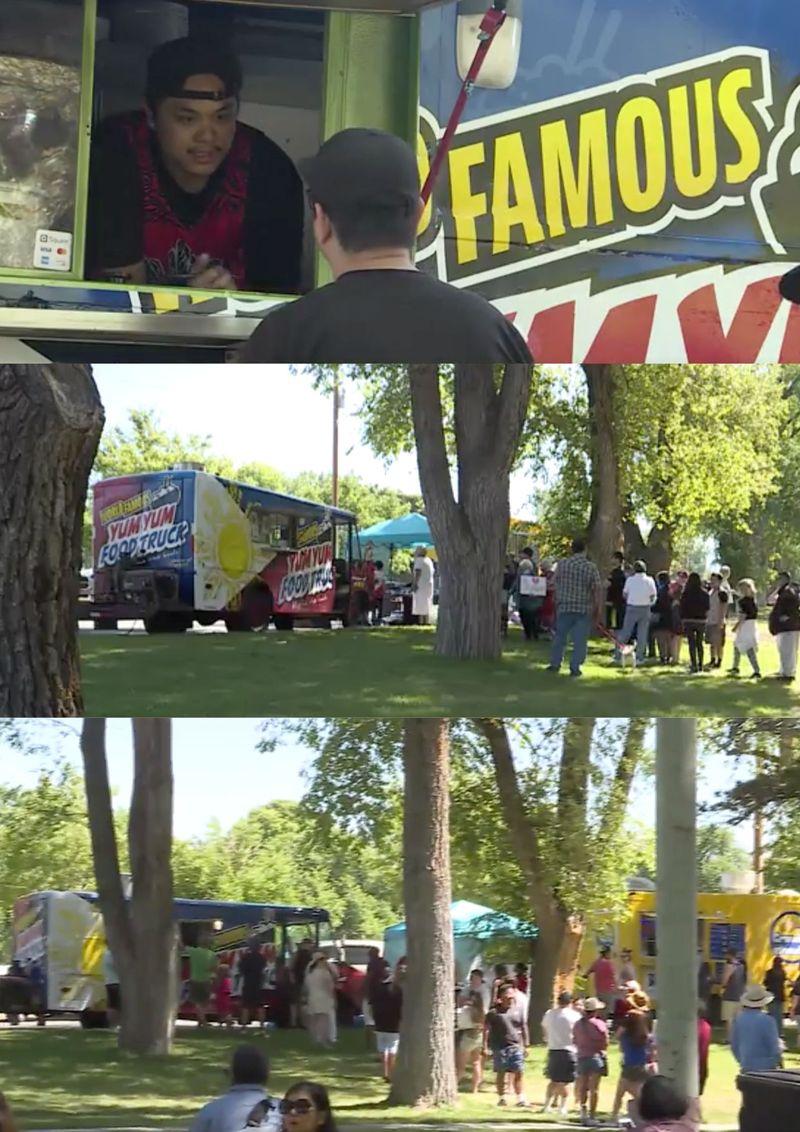 Vandalised food truck