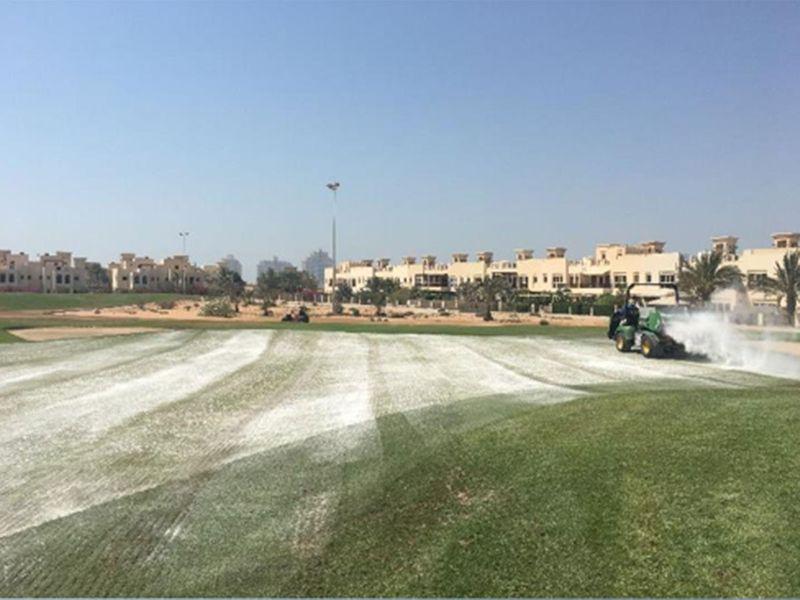 Al Hamra Golf Club is under repair