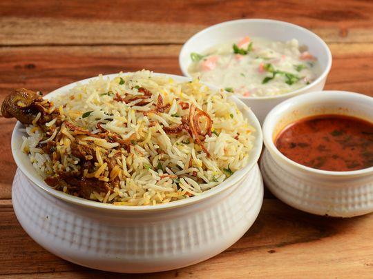 Classic Hyderabadi biryani
