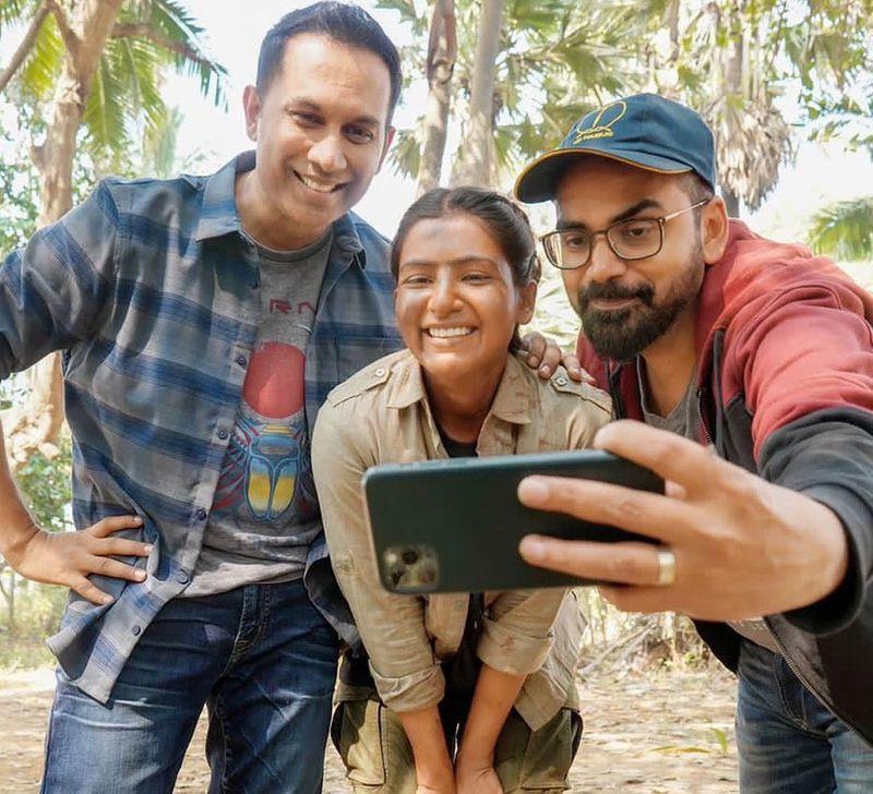 Samantha Akeni with Raj & DK Filmmaker Duo of Family man 2