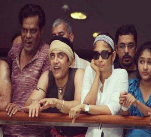 Aamir Khan and Kiran Rao on the sets of Lagaan